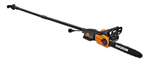 WORX WG309 8 Amp 10' 2-in-1 Electric Pole Saw & Chainsaw with Auto-Tension