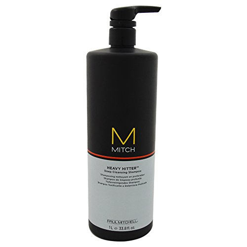 Paul Mitchell Men's Mitch Heavy Hitter Deep Cleansing Shampoo, 33.8 Ounce