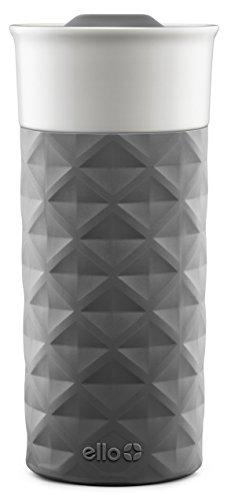 Ello Ogden Ceramic Travel Mug with Friction-Fit Lid  16 oz   Grey