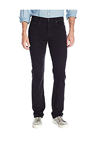 "31E6W63jbQL Straight fit from hip to ankle. 10 1/2"" Rise; 17"" Leg Opening; 34"" Inseam A true classic black denim that never fades"