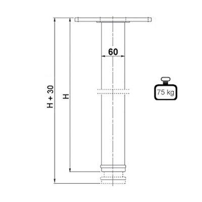 4er-Set-SO-TECH-Tischbeine-Hhe-710-mm-Hhenverstellbar–60-mm-WEI-Tragkraft-bis-75Kg-je-Fu-Schreibtischbeine-Mbelbeine-Tischfe