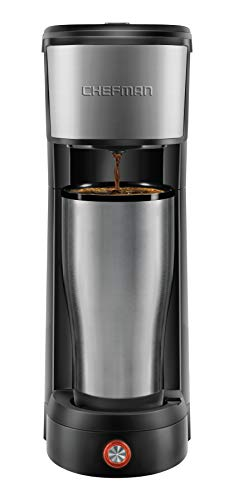 Chefman InstaCoffee Single Serve Coffee Maker Compatible with K-Cup Pods, Grounds & Loose-Leaf Tea w/Reusable Filter… 1