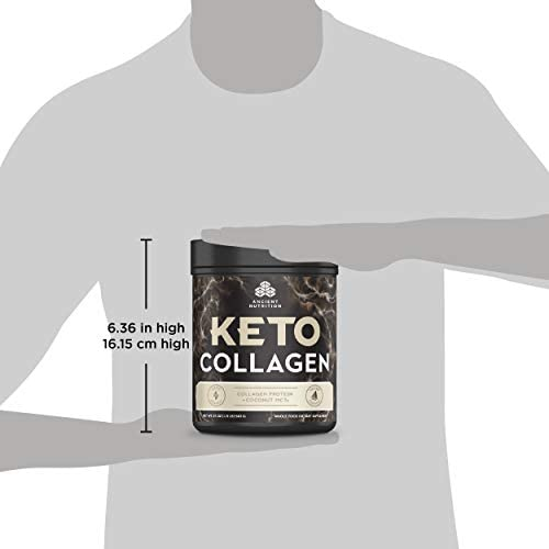 Ancient Nutrition KetoCOLLAGEN Powder, Keto Diet Supplement, Types I and III Collagen Plus Coconut MCTs, Pure Flavor, 30 Servings, 19 oz 8