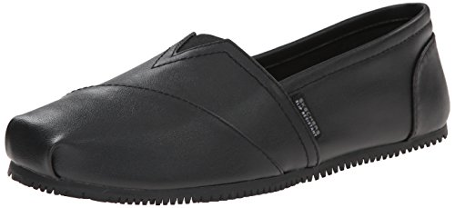 Skechers For Work Women's Kincaid II Slip On Flat w/gore, Black, 9 M US