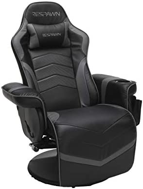 RESPAWN 900 Racing Style Gaming Recliner, Reclining Gaming Chair, in Gray RSP 900 GRY