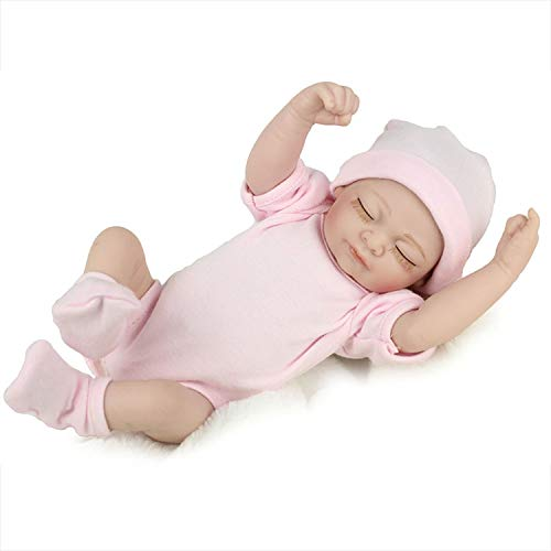 PENSON & CO. Reborn Newborn Baby Realike Doll Handmade Lifelike Silicone Vinyl Weighted Alive Doll for Toddler Gifts 10'
