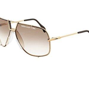 960ca8dc396 Cazal 9054 Sunglasses 002 White   18K Gold Plated Grey Gradient Lens ...