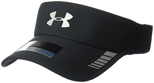 Under Armour Men's Launch ArmourVent Visor, Black (001)/Silver, One Size