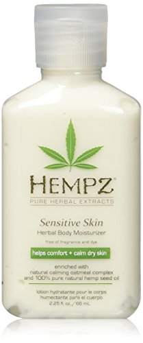 Hempz Sensitive Skin Herbal Body Moisturizer with Oatmeal, Shea Butter for Women and Men,2.25 oz. -Premium,Soothing Body Lotion with Hemp Seed, Cocoa Seed, Mango Seed for Dry Skin -Skin Care Products 3