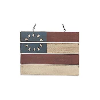 Americana Colonial Flag Hanging Decorative Replacement Plaque For Arrow Holder