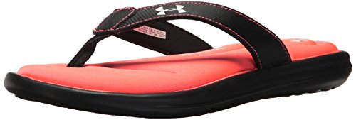 Under Armour Women's Marbella VI Flip-Flop, Black (002)/Brilliance, 8