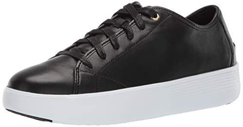 Cole Haan Women's Grand Crosscourt Tennis Flatform Loafer Flat, Black Leather, 9.5 B US