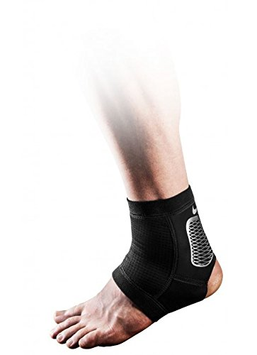 Nike Pro Hyperstrong Ankle Sleeve 2.0, XL, (Black/Metallic Silver/White