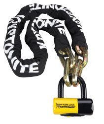 Kryptonite New York Fahgettaboudit 1415 Bicycle Chain and New York Disc Bike Lock, 14mm x 60""