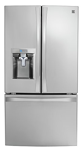 Kenmore 4675043 Smart French Door Bottom-Mount Refrigerator, 24  cu. ft, Stainless Steel