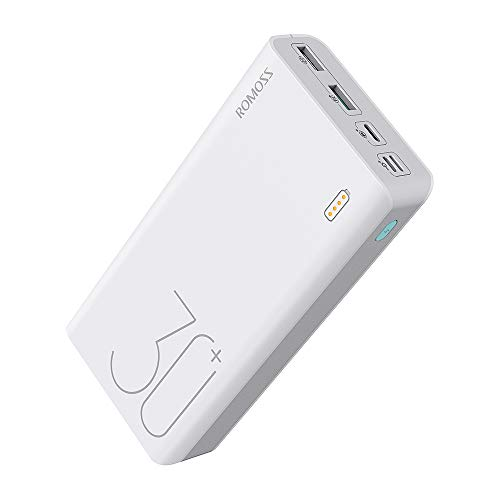 ROMOSS 30000mAh Type-C PD Portable Charger Sense 8+, 3 Outputs and 3 Inputs Power Bank, 18W Fast Charge Extenal Battery Packs Compatible with iPhone Xs Max, MacBook, iPad Pro, Samsung S8 (S9 is not)