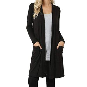iYBWZH Women Fashion Warm Front Cardigan Sweater Long Sleeve Pocket Loose Drape