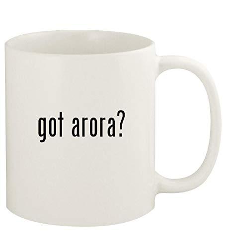got arora? - 11oz Ceramic White Coffee Mug Cup, White