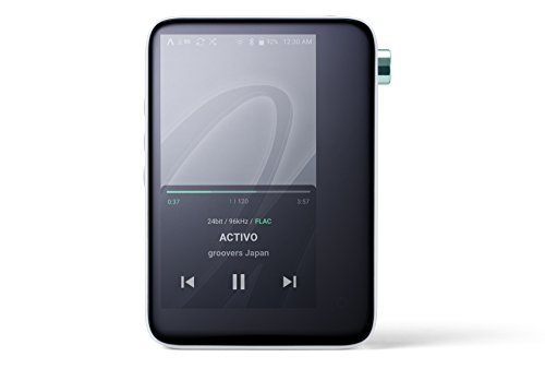 ACTIVO CT10 High Resolution Portable Music Player: Small, Stylish Design, MP3/Lossless Formats, Wi-Fi, Bluetooth, Streaming, 10 Hours of Playback (Cool White)
