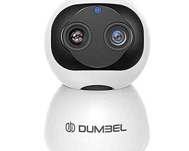 DUMBEL DashX CareCam Pro 10X Zoom 360° Smart Pan Tilt Home Office WiFi Camera   Wireless Indoor Security 2MP 1080P (Full Hd)   Night Vision   Up to 128 Gb MicroSD Card Slot   Motion Detection (10X Zoom Dual Lens)