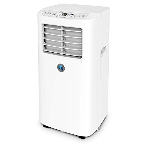 JHS 8,000 BTU Small Portable Air Conditioner, 3-in-1 Floor AC Unit with 3 Fan Speeds, Remote Control and Digital LED Display, Cover up to 200 Sq.Ft