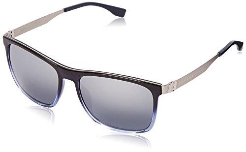 31H%2BDtkPi6L Wayfarer sunglasses with integrated nose guards, slender arms, and logo at temples Case included