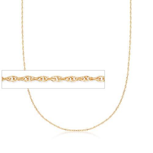 Yellow Gold Rope Chain