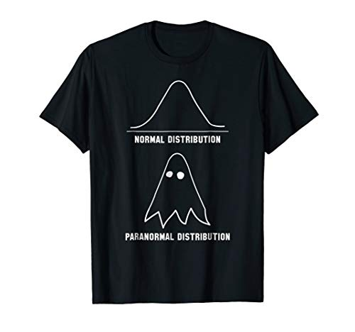 Mens Maths & Statistics Shirt | Funny Ghost Tee Medium Black