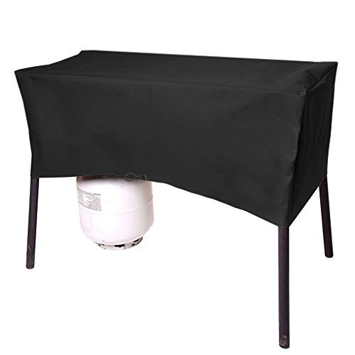 ProHome Direct Heavy Duty Patio Cover Fits for Camp Chef 3 Burner Stoves, Including Models TB90LW, TB90LWG, TB90LWG15, DB90D, SPG90B,PRO90,43' L x 16' H x 16' W, Black