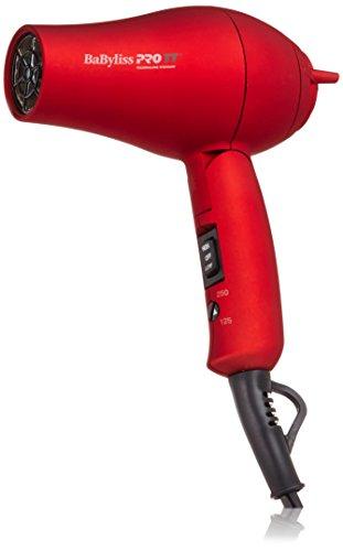 BaBylissPRO BABTT053T TT Tourmaline Titanium Travel Dryer, Red