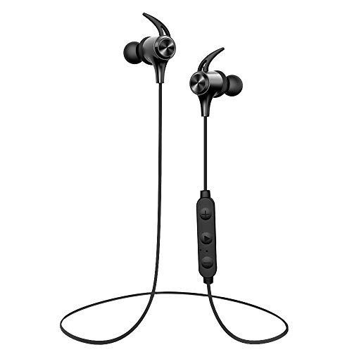 Wireless Headphones, Boltune Bluetooth 5.0 IPX7 Waterproof 16 Hours Playtime Bluetooth Headphones, with Magnetic Connection, Sports Earphones for Running Built-in Mic