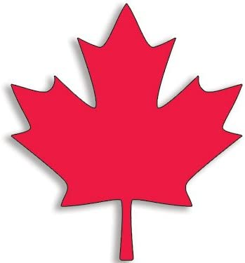 Amazon Com American Vinyl Red Maple Leaf Shaped Sticker Canada Canadian Native Proud Flag Logo Automotive