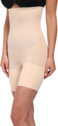 SPANX Women's Higher Power Shorts, Soft Nude, MD