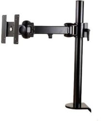 "Inland 05327 Single Arm Desk Mount Support 1 Screens 15"" up to 24"""