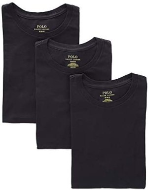 Polo Ralph Lauren Men's Classic Crew Neck Undershirts 3-Pack