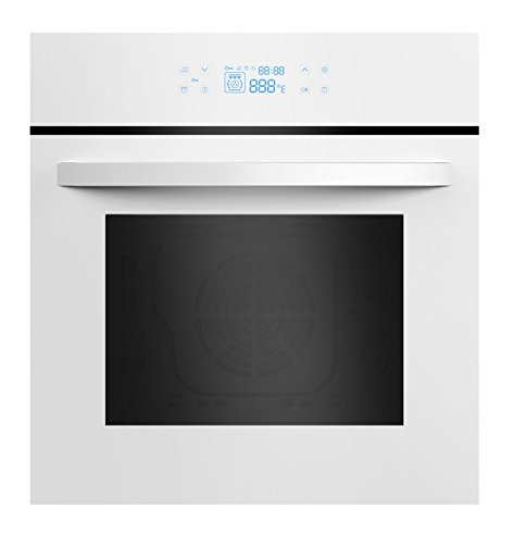 Empava 24' White Tempered Glass LED Digital Touch Controls Electric Built-In Single Wall Oven EMPV-24WOC12