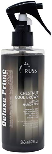 Truss Deluxe Prime Chestnut Cool Brown Hair Treatment - Ash Brunette Color Refresh Treatment & Heat Protectant Spray For Ash Brown Hair, Detangler, Repairs Dry, Damaged, Color Treated Hair