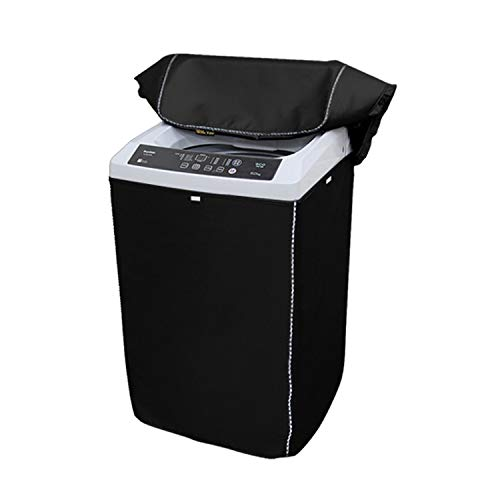 Portable Washing Machine Cover,Top Load Washer Dryer Cover,Waterproof Full-Automatic/Wheel Washing Machine Cover(24″25″38″inches,Black)
