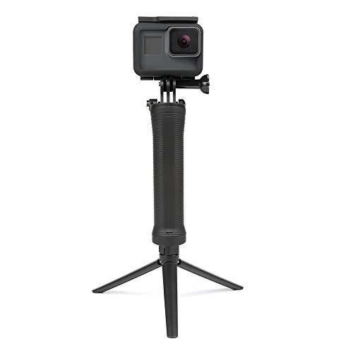 31J1U1G8SBL YANTRALAY SCHOOL OF GADGETS 3-Way Monopod Grip Arm Tripod Foldable Selfie Stick, Stabilizer Mount Holder for GoPro Hero 7/6/5, SJCAM SJ6, SJ7, SJ5000, Yi and All Action Cameras (Black)