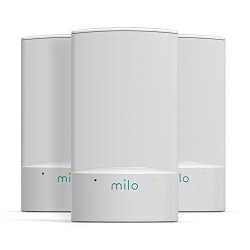 Milo Wifi System (3-Pack) - Whole Home Distributed Wifi, BaseLink Network Technology, Coverage up to 4000 Sq. Ft.