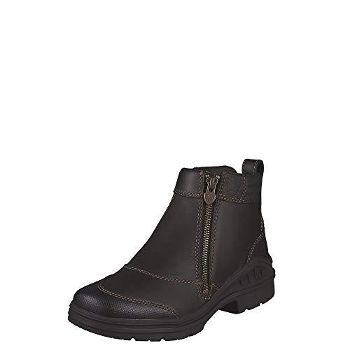 Ariat Women's Barnyard Side Zip Barn Boot, Dark Brown, 7.5 M US
