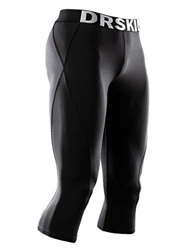 DRSKIN] Tight 3/4 Compression Pants Base Layer Running Pants Men (M, BB807)