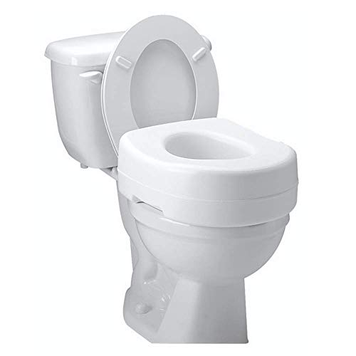 Carex Toilet Seat Riser - Adds 5 Inches of Height to Toilet...