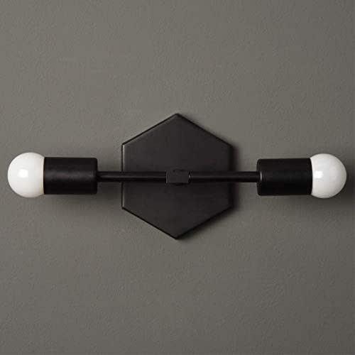 Amazon.com: Bathroom Vanity Sconce Matte Black Mid Century ...