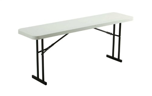 Lifetime 80176 Folding Conference Training Table, 6', White Granite