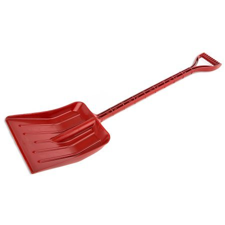 Rocky Mountain Goods Kids Snow Shovel - Perfect Sized Snow Shovel for Kids Age 3 to 12 - Safer Than Metal Snow Shovels - Extra Strength Single Piece Plastic Bend Proof Design (1, Red)