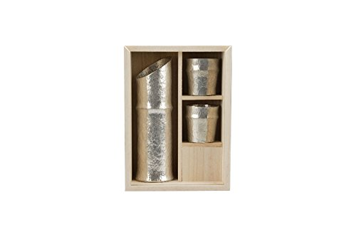 Nousaku tin bamboo type Sake set 50 130