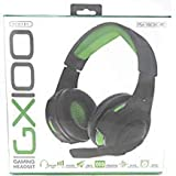 GX100 Gaming Headset PS4 XBOX1 PC 40mm Drivers Noise Isolation Simulated Surround Boom Mic (Green/Black)