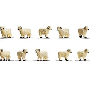 Hornby OO Gauge Herd of Sheep 1:76 Scale Miniature Figures for Model Train Layouts R7122 31L1VxWjGFL