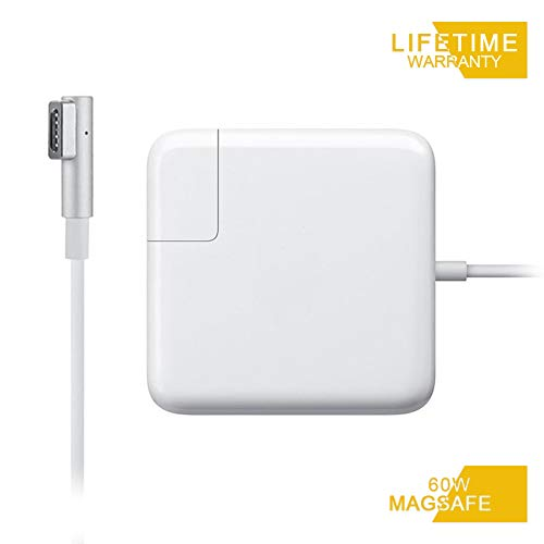 MacBook Pro Charger, Replacement 60W Magsafe 1 L-Tip Power Adapter Charger for Mac Book Pro 13-inch-Before Mid 2012